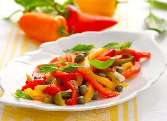 Салат из перца болгарского рецепт с
