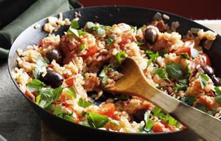 Овочеве рагу з рисом