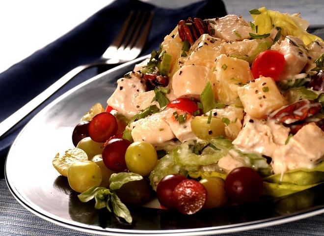 Салаты с курицей и виноградом рецепты