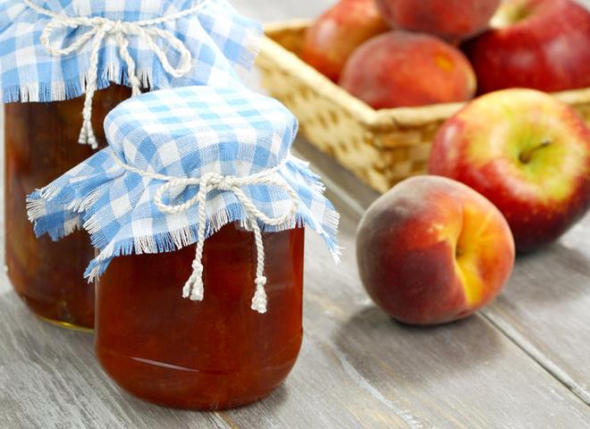 Варення з персиків і яблук: рецепт заготовки на зиму