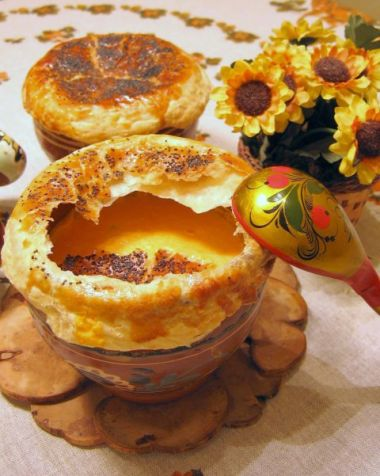 Гарбузовий суп-пюре з креветками