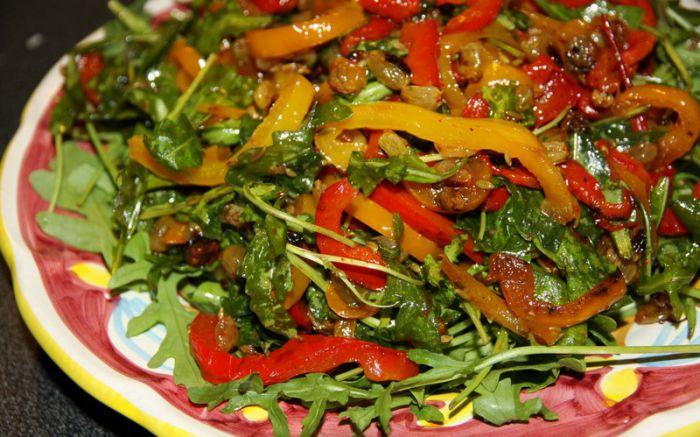 Салат курица помидоры перец лук
