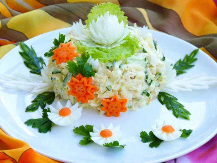 Новинки праздничных салатов с фото