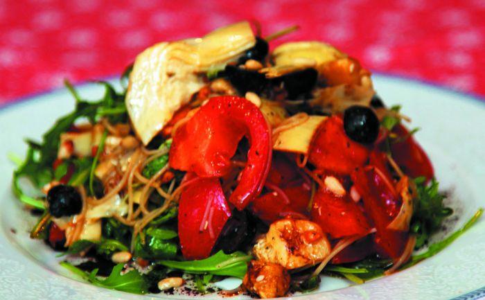Салат з маринованими артишоками