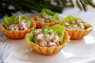 Сирні корзиночки з салатиком
